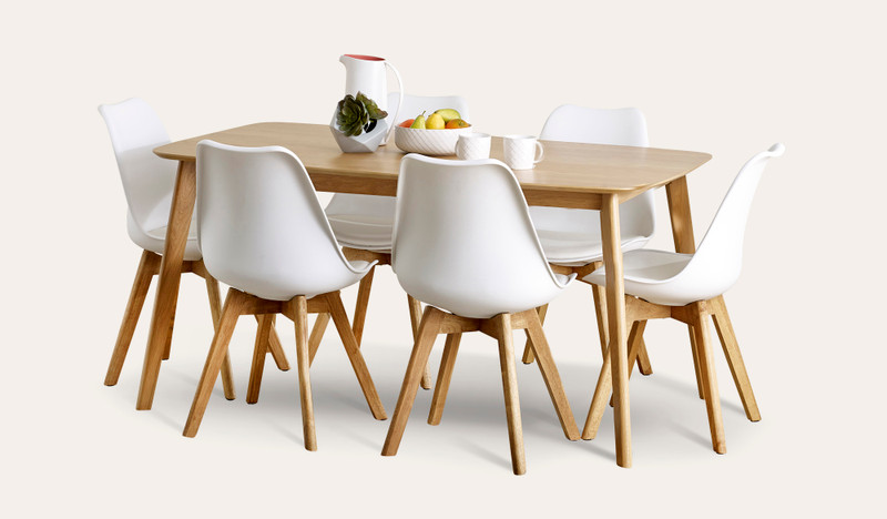 Riga 7 pce dining suite with Vibe chairs