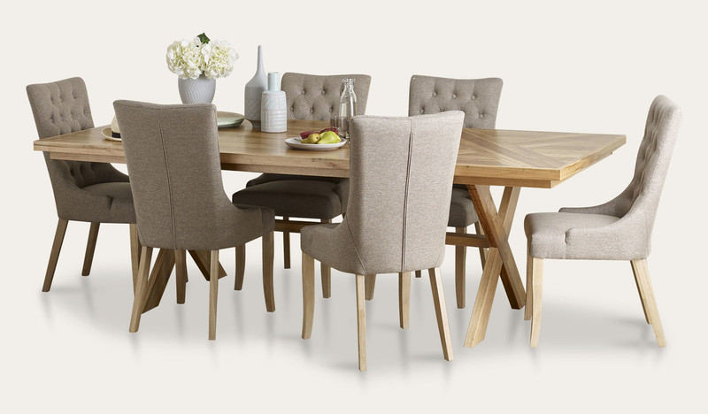 Orbost dining suite with Evelyn chairs