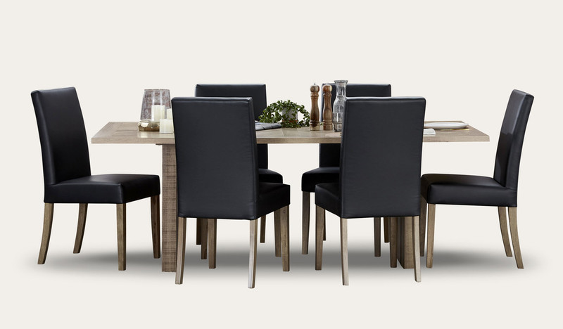 Chevron dining suite with Woodland chairs