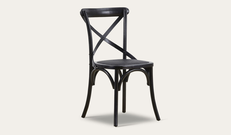Ibiza black dining chair