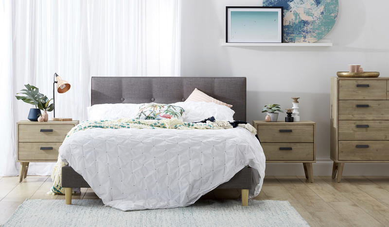 Tiffany Queen Bed with Malo Bedsides and Tallboy
