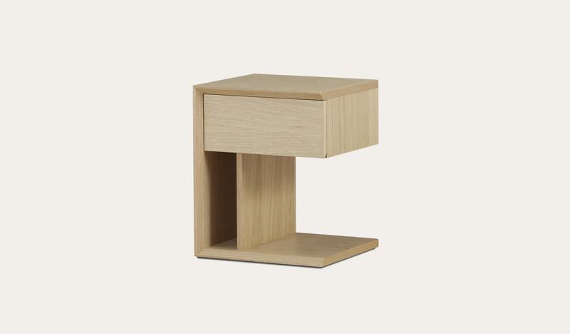 Bondi   beach oak bedside table