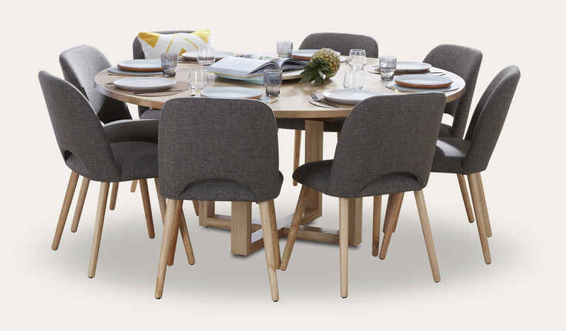 Kennedy Dining Suite In Australian Messmate Timber With Alice Dining Chairs