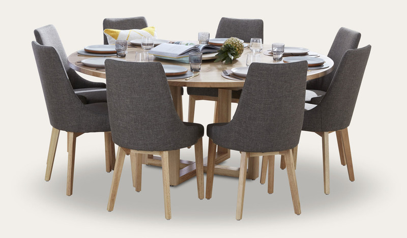 Kennedy Dining Suite In Gipplsand Messmate Timber With Benson Dining Chairs