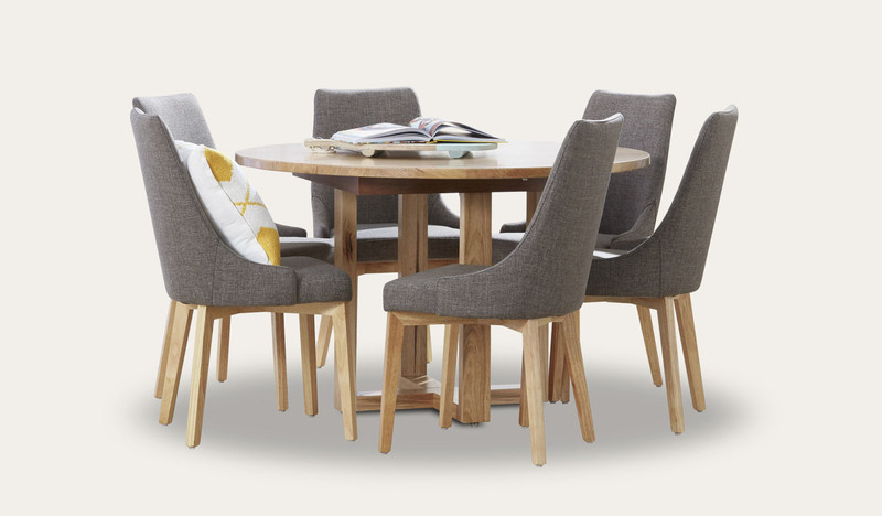 Kennedy round dining table with Benson chairs