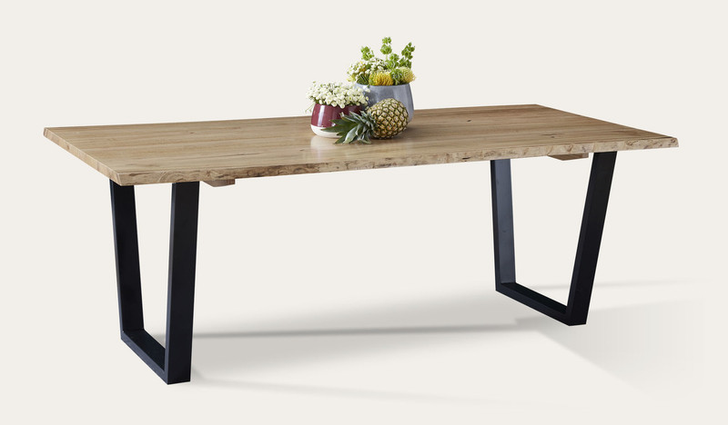 Archie dining table with live edge