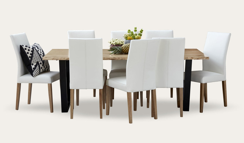 Archie dining suite with Metz leather chairs