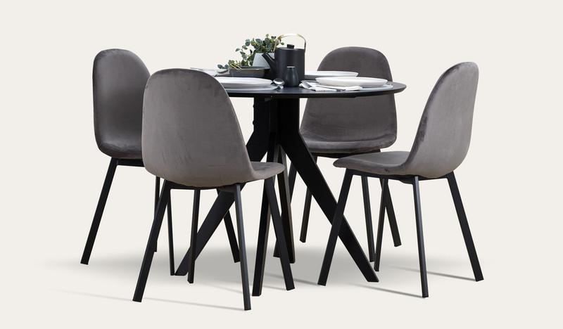 Zaria 5 pce round dining suite
