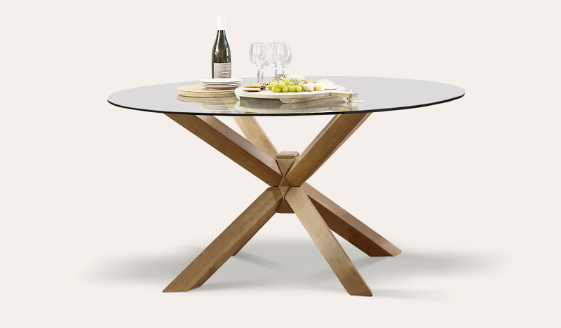 Miles round dining table