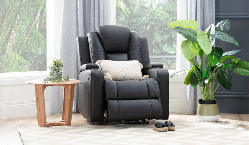 Macpherson leather recliner