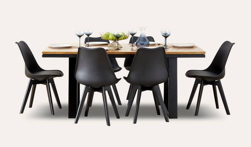 Esperance dining with Vibe chairs