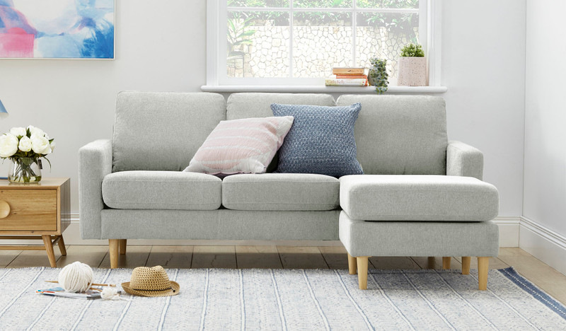 Apartment reversible chaise lounge