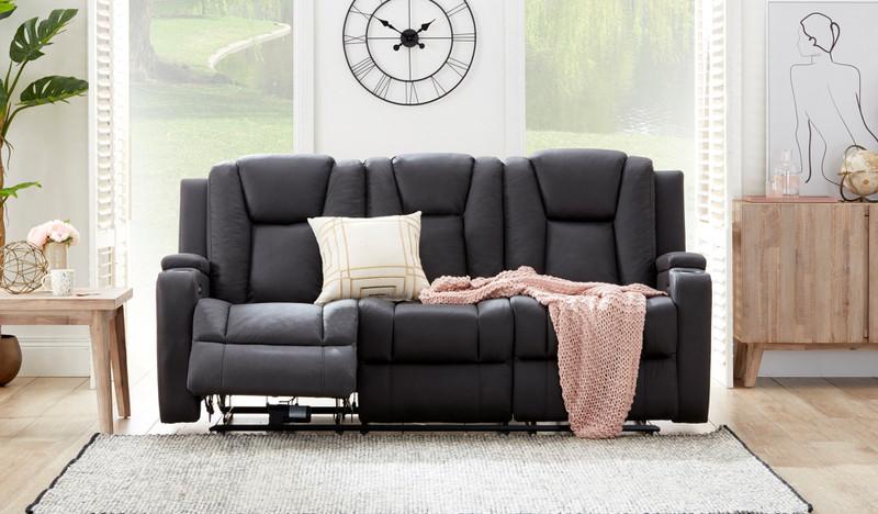 Macpherson fabric 3 seat recliner