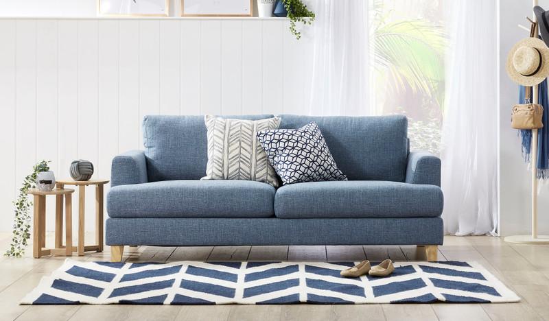 Hamilton 2.5 seat sofa - blue