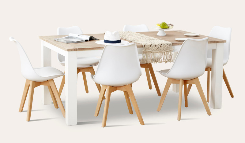 Lorne dining suite with Vibe chairs