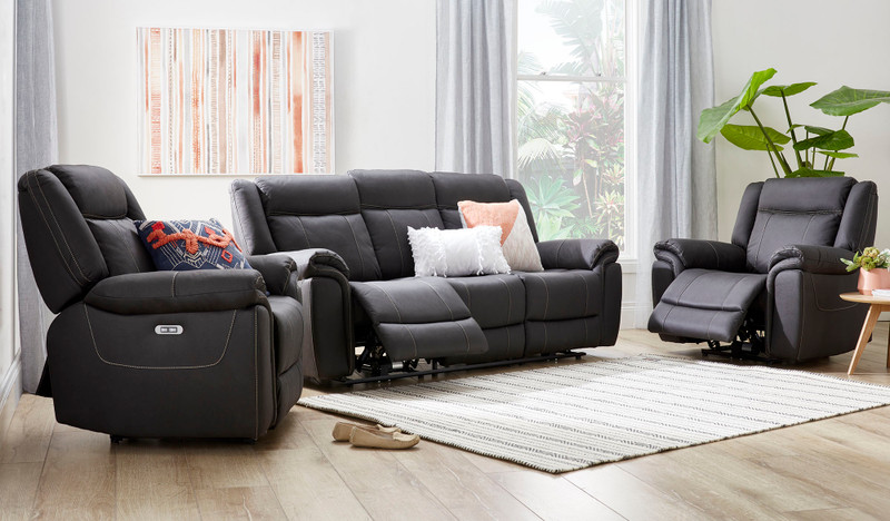 Helix 3 pce electric recliner suite