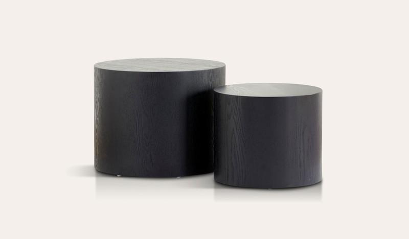 Sahara set of 2 side tables (Black)