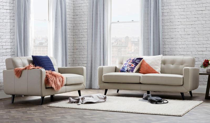 Abbie leather 3 + 2 seat sofa suite