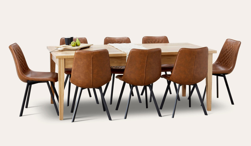 Belgrave extension table suite with Cruze chairs