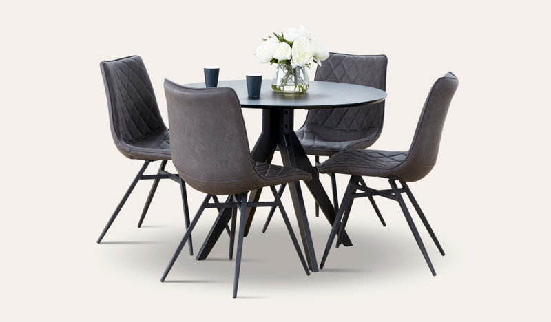 Zaria 5 pce suite with Husk chairs