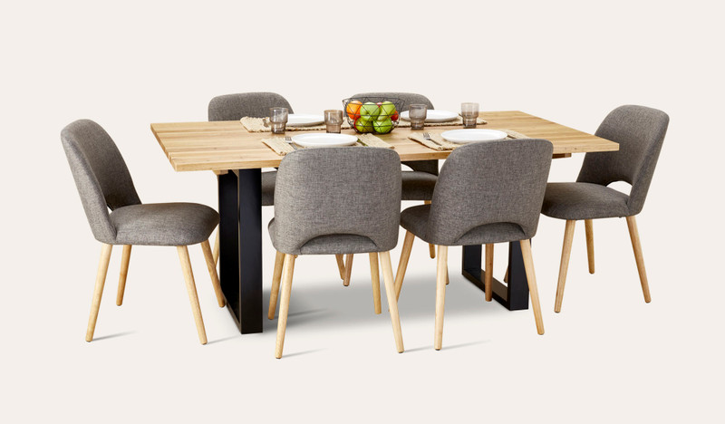 Eden dining suite with Alice chairs