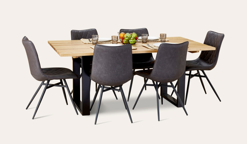 Eden dining suite with Husk chairs