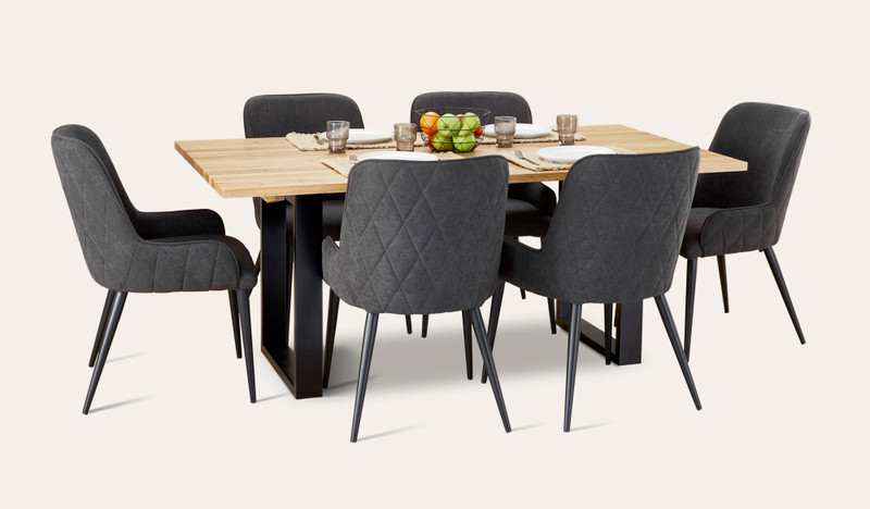 Eden dining suite with Danni chairs
