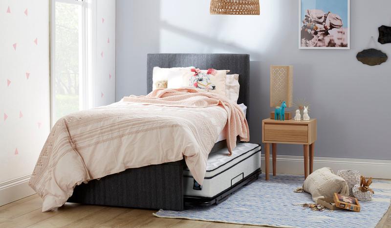 Sensus king single trundle includes bedhead & 2 mattresses