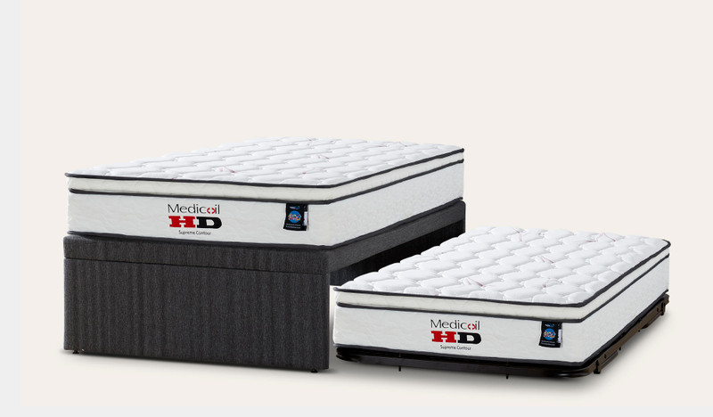 Sensus king single trundle set includes 2 mattresses