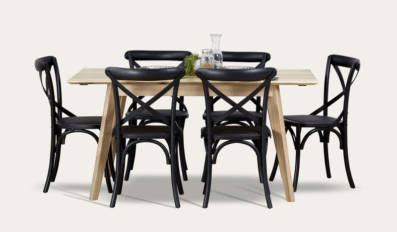 Maldon dining suite with black Ibiza chairs