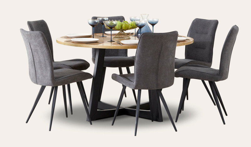 Esperance 7 pce round dining with Narla chairs