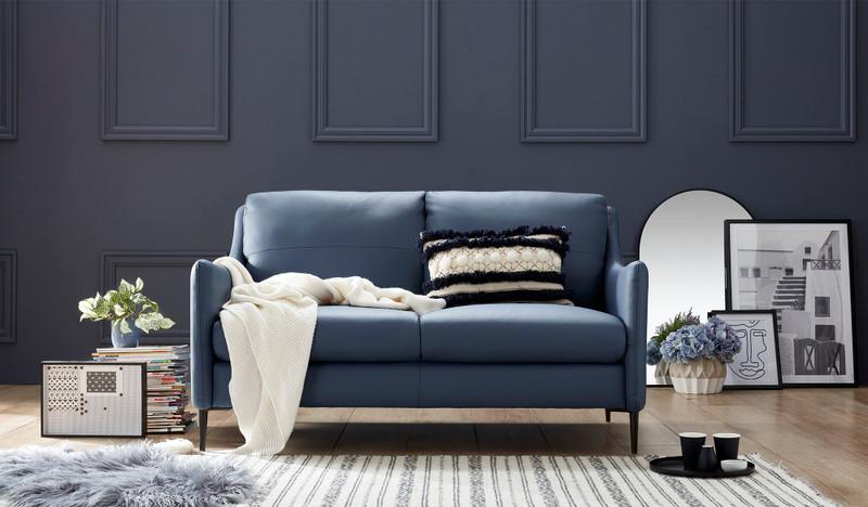 Condo leather 2 seat sofa