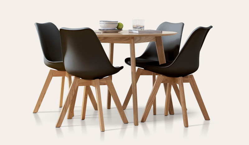 Riga 5 pce round top dining suite with Vibe chairs