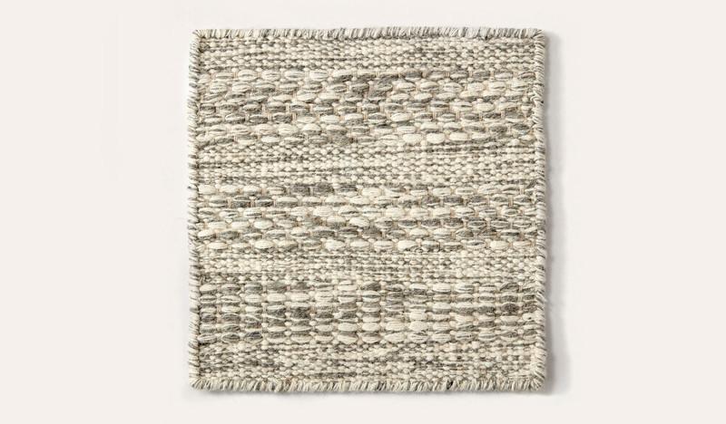 Artisan Linear slate wool rug