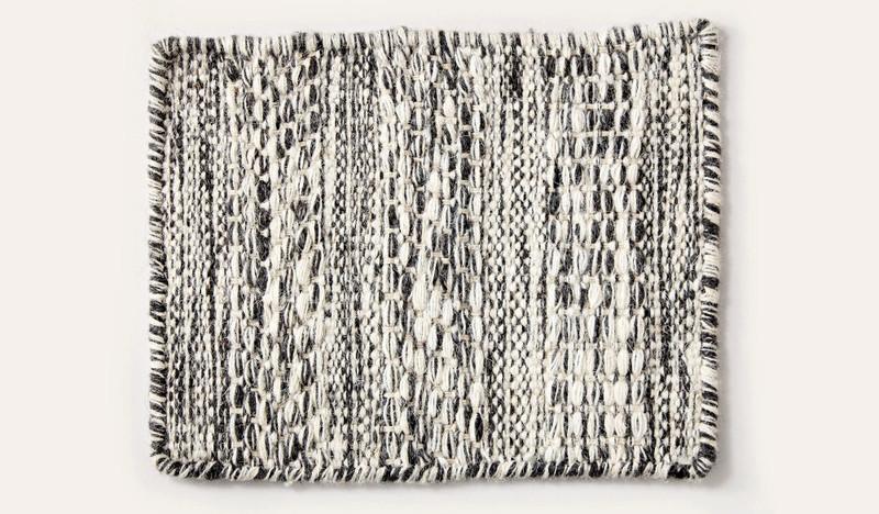 Artisan Linear zebra wool rug
