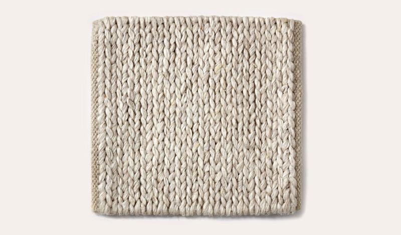 Artisan Braid stone wool rug