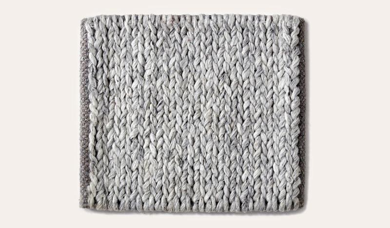 Artisan Braid graphite wool rug