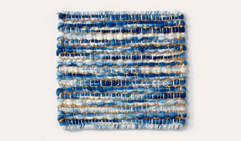 Artisan Luxemburg blue wool rug