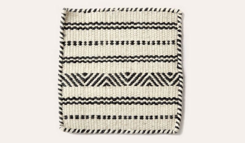 Artisan Aztec stonewall wool rug