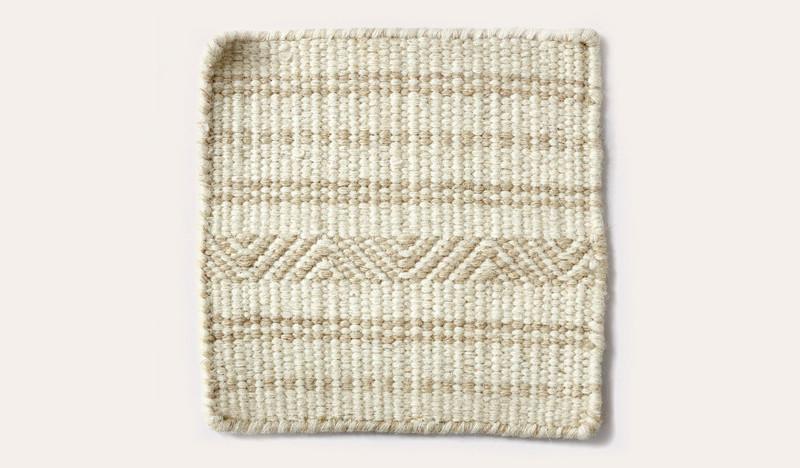 Artisan Aztec bone wool rug