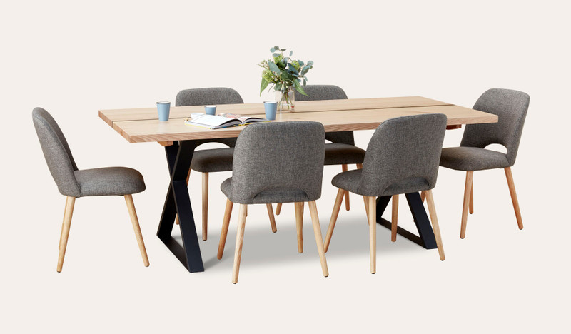 Adelaide dining suite with Alice chairs