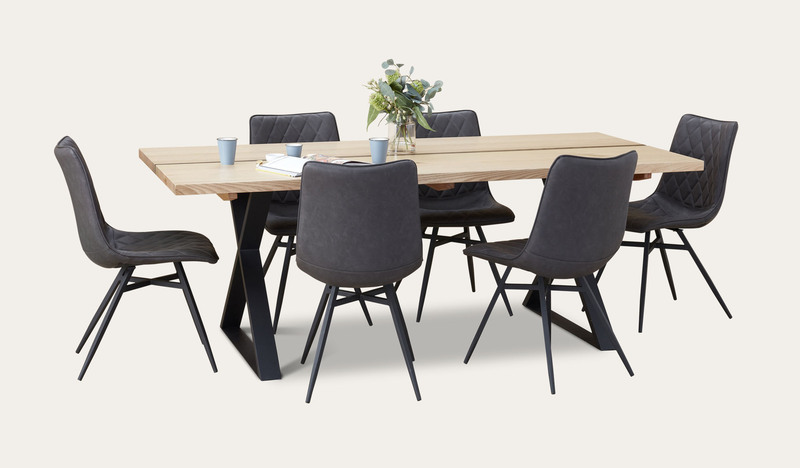 Adelaide dining suite with Husk chairs