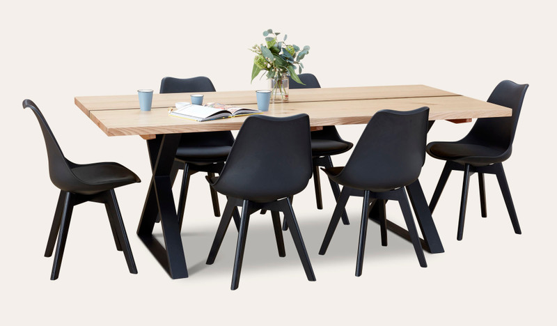 Adelaide dining suite with Vibe chairs