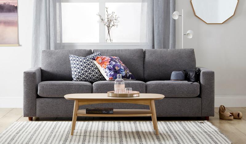 Fallon 3 seat sofa storm