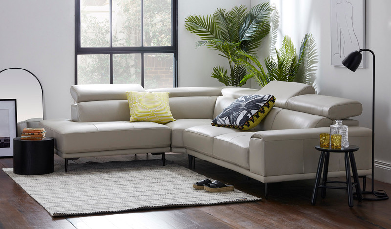 Bellaire leather corner chaise lounge