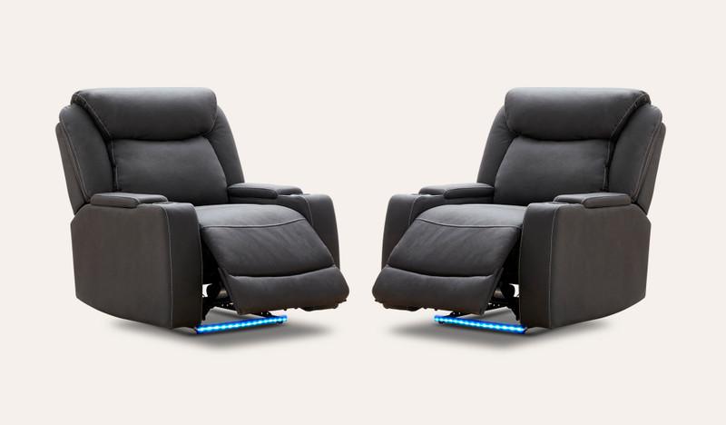 Excalibur set of 2 electric recliners
