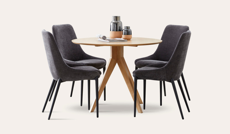 Zaria 5 pce suite with Anton chairs
