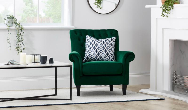 Adela green armchair