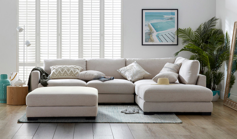 Tully 5 seat corner chaise incl. ottoman