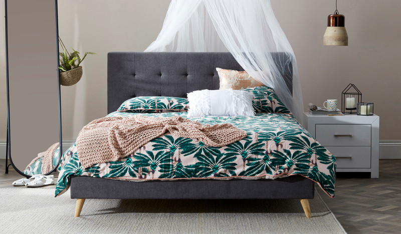 Lacey upholstered bed